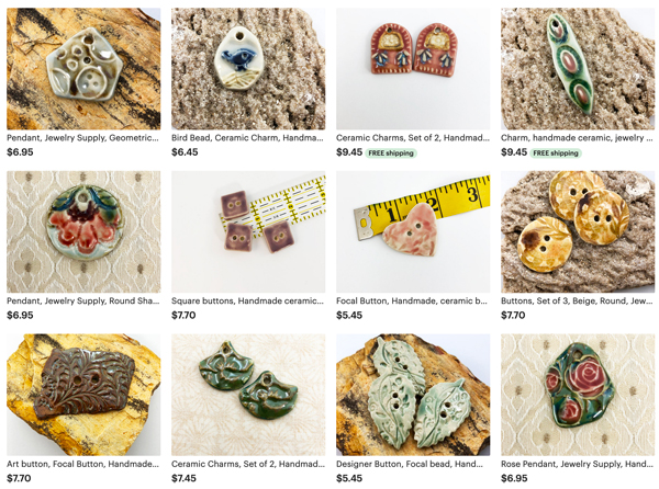 View of Etsy Shop Listings